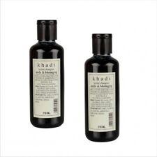 Khadi Herbal Shampoo with Amla & Bhringraj, Daily Use Shampoo- 210ml (Pack of 2)
