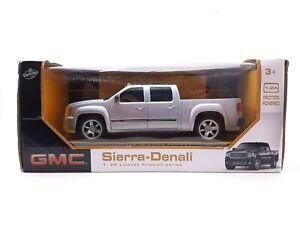 GMC Sierra Denali Pickup Truck 1:24 Friction Series Silver Lollipop Plastic