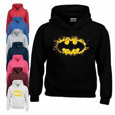 Comic Batman Logo Hoodie Dark Knight Joker Superhéroe Cumpleaños Niño Niña Niños Capucha