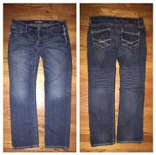 BKE CARTER STRAIGHT LEG BUCKLE DENIM BLUE JEANS Size 36 X 22