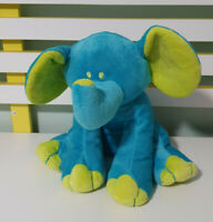 TEDDY AND FRIENDS BLUE ELEPHANT PLUSH TOY! SOFT TOY ABOUT 20CM SEATED KIDS TOY!