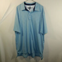 ADIDAS Climacool Mens Short Sleeve Polo Golf Shirt Blue Size XXL 2XL