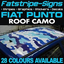 FIAT PUNTO ROOF CAMO GRAPHICS STICKERS STRIPES DECALS CAMOUFLAGE ABARTH 1.2 1.4
