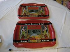 Vintage Bacon Stickney & Co Spice Best GINGER RARE Serving Trays Albany New York
