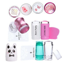 BORN PRETTY Nail Art Stamping Stamper w/Scraper Clear Jelly Silicone Tool Set