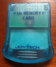 Sony Playstation 1 Blue Joytech 1MB Memory Card. PS1.
