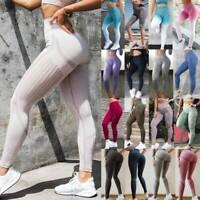 Women Seamless Leggings Yoga Pants High Waist Sports Fitness Gym Stretch Trouser