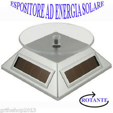 Supporto Vetrina Energia Solare Alimentata Rotante 360 Gradi Tavolo Argento