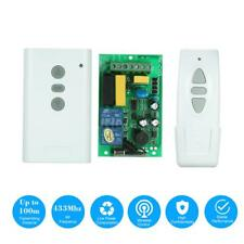 220V 2CH Intelligent RF Wireless Remote Control Switch Kit Garage Door Curtain
