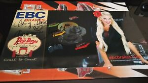 GENEVIEVE CHAPPELL SIGNED PET BOYS SPEED SHOP DRAG RACING HANDOUT POSTCARD