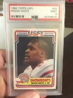 Reggie White Rookie 1984 USFL PSA 9 new hologram Eagles Hall of Famer!