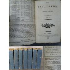 Addison Joseph The Spectator in eight volumes london 1797 Superbe brochage d'att