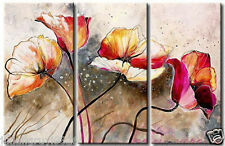 100%Handworked Modern Abstract Art Oil Painting Wall Deco Canvas-Flowers