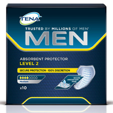 4x 10Packs TENA MEN Discreet Absorbent Protector Pads Incontinence Level 2