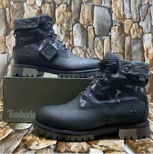 Timberland Men's Heritage EK+ 6 Inch Black Full Grain Boot Style A29P7 Sz:12M