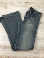 Hollister Flare Jeans 6 Medium Wash Vintage Flap Pockets