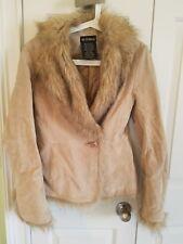 Le Chateau vintage leather jacket with faux fur size xxs