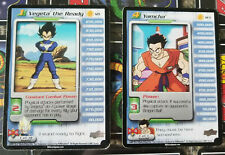 Vegeta Yamcha Android Saga Rare Personality #121 #123 DBZ CCG Score Card Z