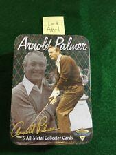 Metallic Impressions Arnold Palmer 5 All-Metal Collector Cards Tin NIB