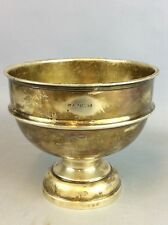 Solid Silver Birmingham 1969  Pedestal Bowl ? Total Weight 218.6 Grams