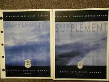 1999 Harley Davidson Police Models Service Repair Shop Manual Supplement SET OEM