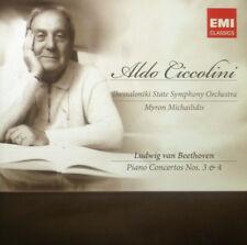 CD Beethoven-Piano Concertos Nos. 3 & 4, Ciccolini, NUOVO