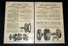 1910 OLD MAGAZINE PRINT AD, NATIONAL BRAKE & CLUTCH, CORK INSERTS GIVE RESULTS!