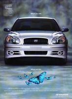 2002 Hyundai Sonata - front saw  - Classic Car Advertisement Print Ad J74