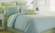 *NEW*NAUTICA SEAGROVE TWIN COMFORTER STANDARD PILLOW SHAM 2 PIECE SET BLUE GREEN