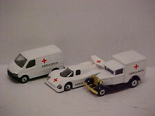 "MODIFIED MATCHBOX 1/75  Repainted as an  AMBULANCE"" SET OF 3 MB60 & MB38 & MB46"