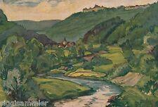 Bächlingen Langenburg AK alt Gemälde Baumgärtner Baden-Württemberg 1607046