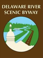 """4"""" delaware river scenic byway road sign highway car auto sticker decal usa made"""