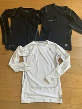 Job lot Of 3 Nike Pro Combat Compression Tops Large Boys 12-13 Years Longslee