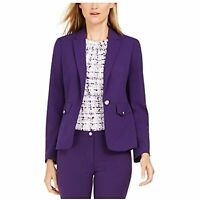 MSRP $149 Calvin Klein Womens Solid Suit Wear to Work Jacket Size 6