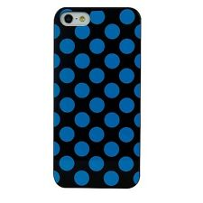 Cygnett Tonic iPhone 5S 5 & SE Polkadot Ultra Slim Thin Case/Cover Black/Blue