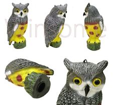 Long Eared OWL Garden Bird Scarer Decoy Deterrent Repeller Pond Outdoor Ornament
