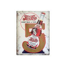 """Plaque en Métal 15x20 """"Pepsi Cola"""" Bouteille Bar Café Rétro Vintage Publicitaire"""