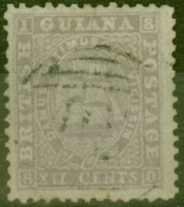 British Guiana 1862 12c Lilac SG49 Thin Paper Fine Used