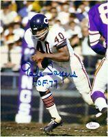 Gale Sayers Chicago Bears Autographed 8x10 Photo With HOF 77 Inscription JSA COA