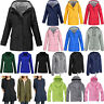 Womens Long Sleeve Hooded Wind Jacket Ladies Outdoor Waterproof Rain Coat S-5XL