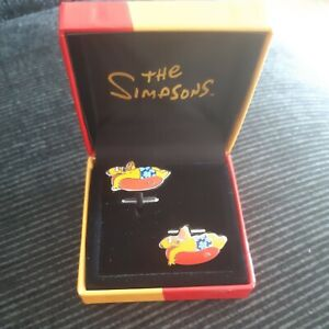 Rare Vintage Homer Simpson Cuff Links Magnificent Mouchoirs London The Simpsons