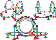 Niños colorido Spinning 360 grados montaña rusa conjunto de pista de tren de bucle de torneado
