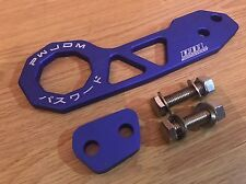 NEW UNIVERSAL PW JDM BLUE REAR TOW HOOK HONDA TYPE R NISSAN MAZDA JAP CARS UK