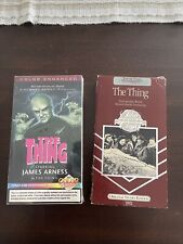 The Thing Vhs Colorized Video Sp Tape * New + Bonus movie - The Thing B & W film