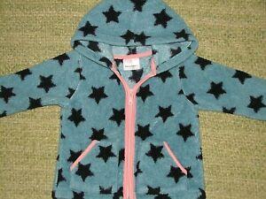 HANNA ANDERSSON Adorable Cozy Marshmallow Fleece STAR Hoodie Jacket 90 Girls 3T
