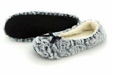 Ballerina Hausschuhe flauschige Fell Hausballerinas Schuhe Plüsch Puschen Typ583