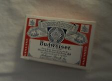 Budweiser King of Beers Plastic Coated Playing Cards Bridge Size Usa Deck