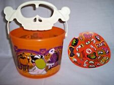McDonalds New 2010 Happy Meal Mr Potato head Halloween Treat Bucket w/Stickers