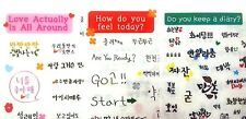 K Style 3pcs Korean Hangul Everyday Practical diary love feelings Stickers Set