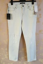"Genetic Alexa NEW White Women's Size 25"" Capri Cropped Jeans BNWT"